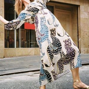Mara Hoffman Jaguar Print Maxi Dress
